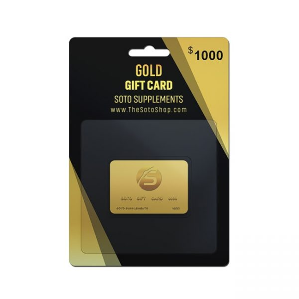 GOLD GIFT CARD $1000